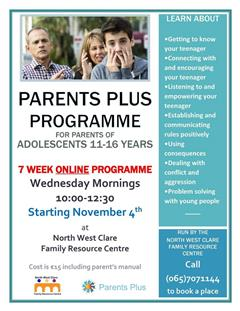 Parents Plus Adolescent course online NCFRC
