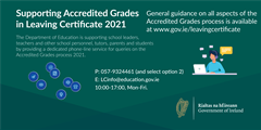 Leaving Certificate examinations and Accredited Grades 2021.