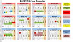School Calendar 2021.2022